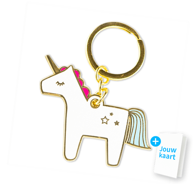 Unicorn sleutelhanger 'Tiny bit of happiness' 2