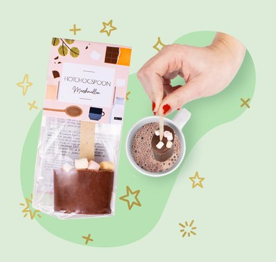 Chocolate spoon marshmallow 2