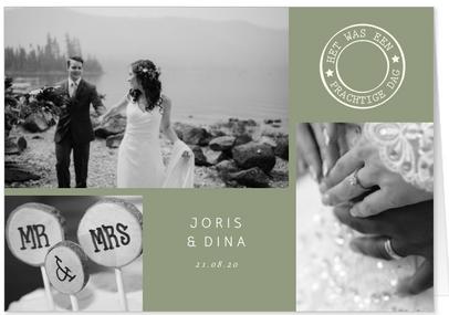 bedankkaart trouwen collage