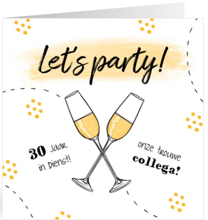 jubileum uitnodiging medewerker champagne