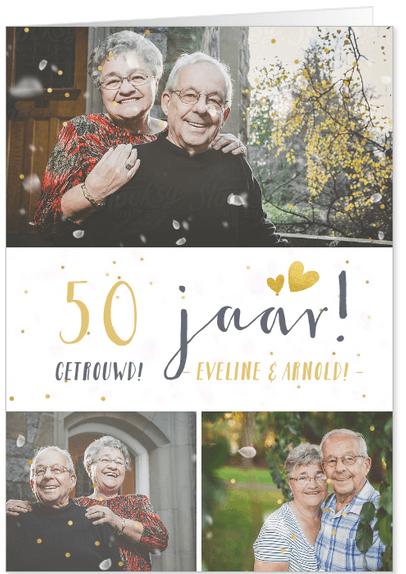 uitnodiging jubileum 50 jaar confetti