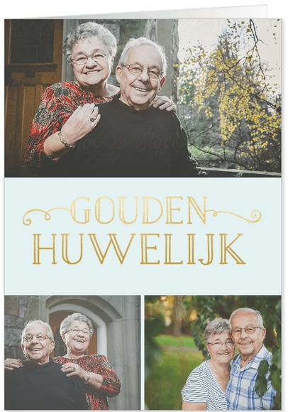 uitnodiging jubileum 50 jaar gouden tekst