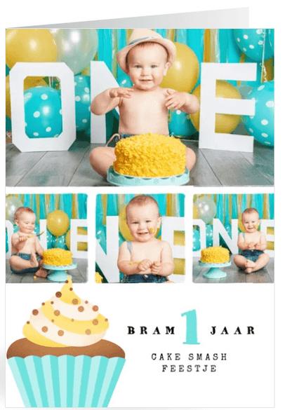 1 jaar cakesmash uitnodiging
