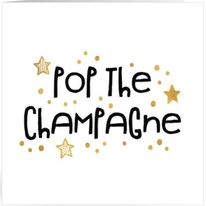 uitnodiging nieuwjaarsborrel champagne