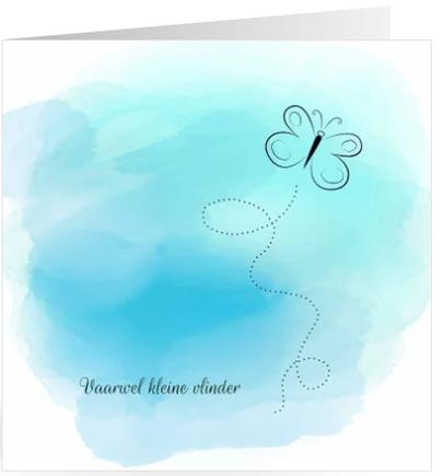 Condoleancekaart watercolor vlinder