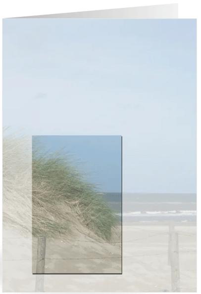 bedankkaart rouw met duinen