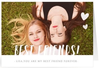 valentijnskaart best friends forever