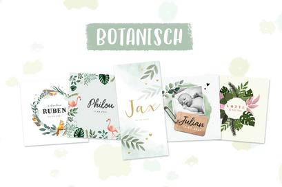 Botanical geboortekaarten