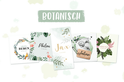 Botanical geboortekaartjes