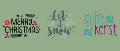 Kerstfiguren - Merry christmas, let it snow