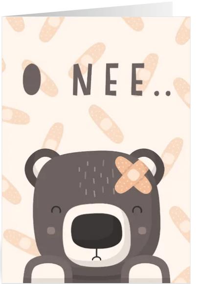 beterschapskaart met lieve beer