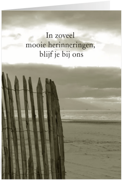 rouwkaart verlaten strand