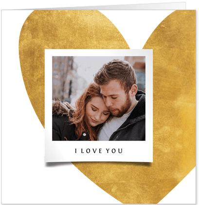 valentijnskaart gouden hart