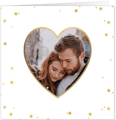 valentijnskaart gouden stippen