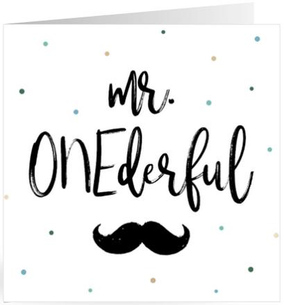 Verjaardagskaart mr ONEderful