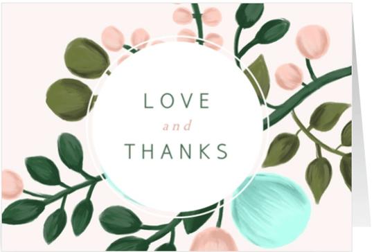 Bedankkaart takken en kader