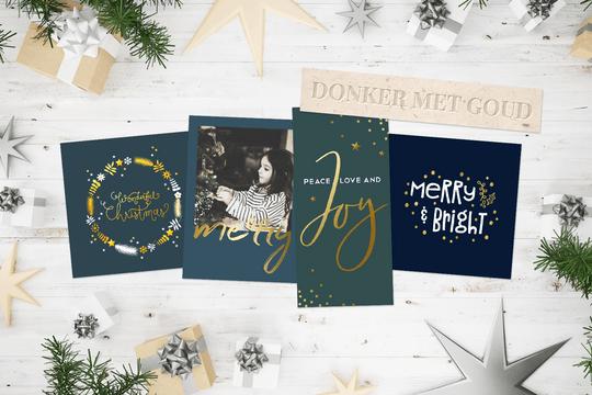 Kerst trend 2018 - Donker met goud