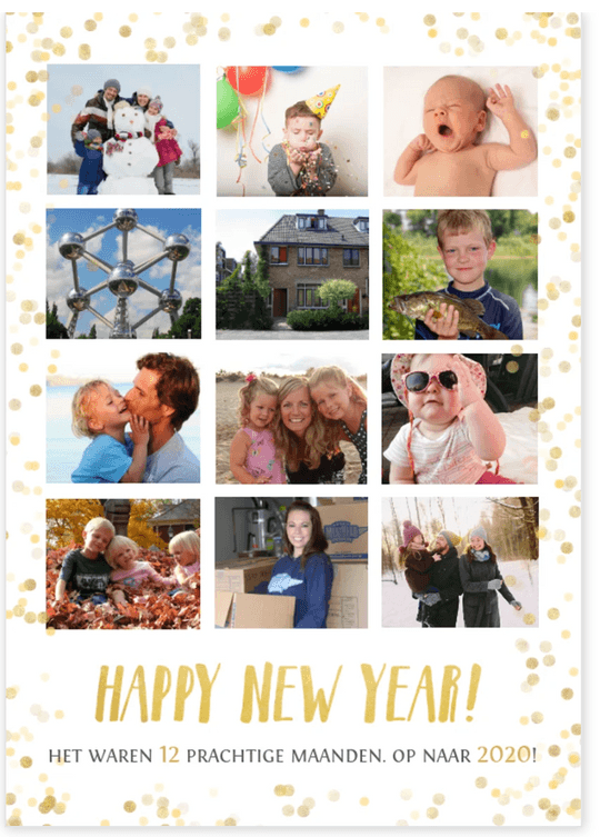 nieuwjaarskaart 12 fotos