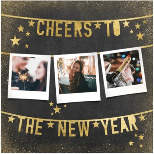 uitnodiging nieuwjaarsborrel polaroids