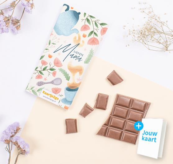 Chocoladereep 'Liefste mama'