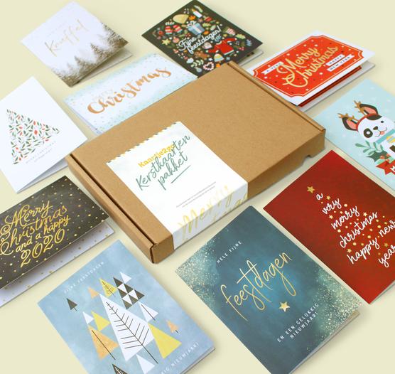 Kaartenbox kerst - 10 kaarten