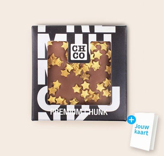 Chocolade chunk met sterren