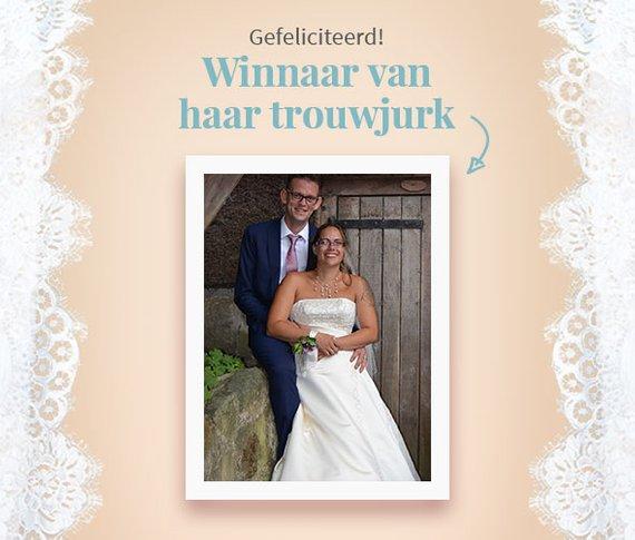 winnaar trouwjurk