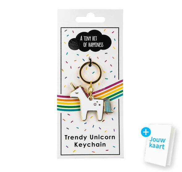 Unicorn sleutelhanger 'Tiny bit of happiness' 1