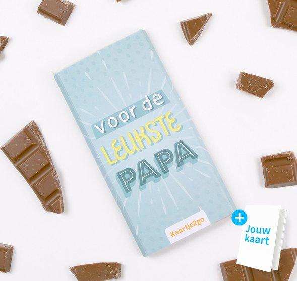 Chocoladereep 'Leukste papa' 1