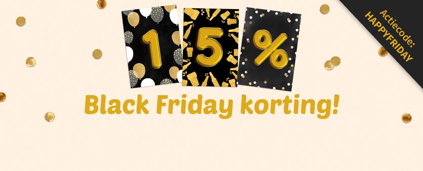 15% Black Friday korting op alle kaarten