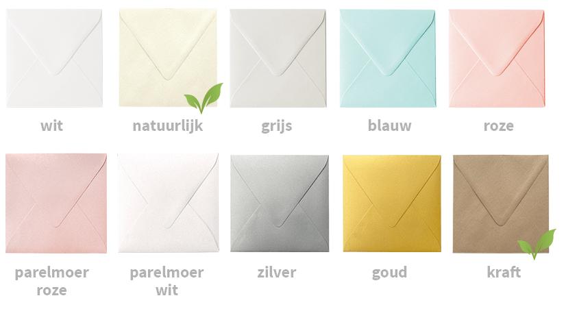 Gekleurde enveloppen voor bij je kaarten