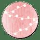 Holz rosa mit Lämpchen
