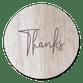 Thanks auf Holz