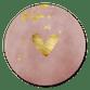 Oud roze waterverf met gouden hartje en spetters