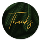 Jungle bladeren met gouden 'thanks'