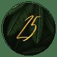 Jungle bladeren met gouden '25'