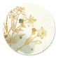 Bloemen goud met waterverf en spetters