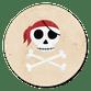 Piraten schedel beige
