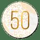 Gouden 50 met marmer en panter abstract