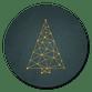 Weihnachtsbaum Netzwerk dunkel