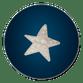 Houten ster donkerblauw