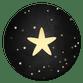 Krijtbord met gouden ster