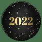 Krijtbord met gouden 2022