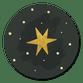 Gouden ster donkergroen