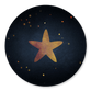 Blauw met gouden ster en kleine sterren