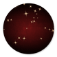 Donkerrood met sparkles