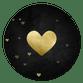 Gouden hart met hartjes