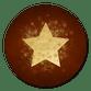 Stern Goldlook auf dunkelrot