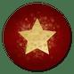 Stern Goldlook auf rot