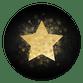 Gouden ster op zwart